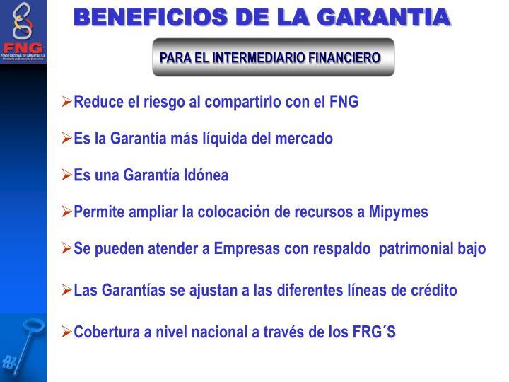 BENEFICIOS DE LA GARANTIA