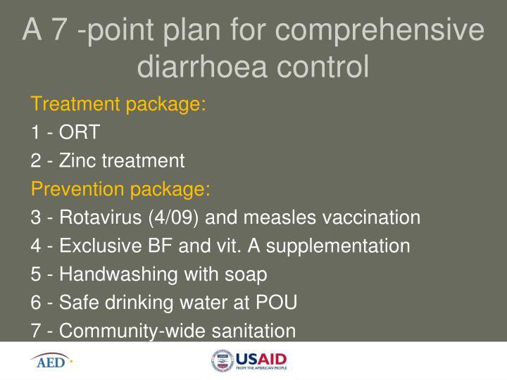 A 7 -point plan for comprehensive diarrhoea control