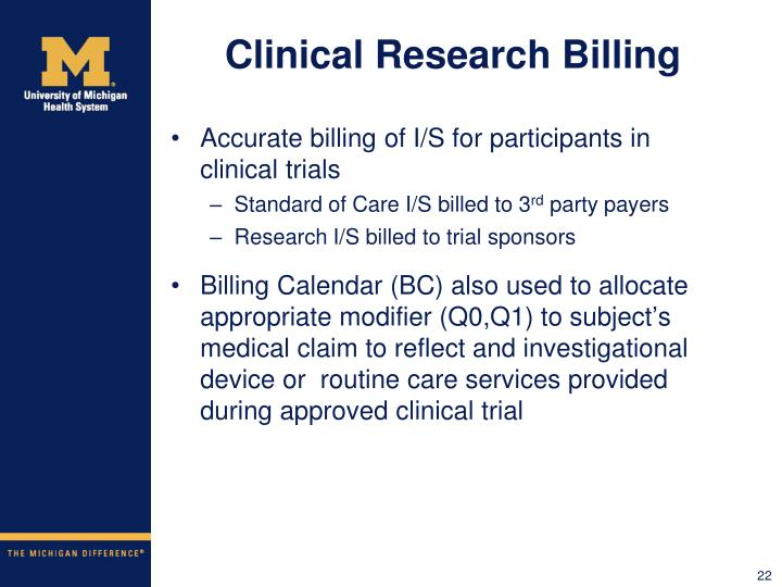 Clinical Research Billing