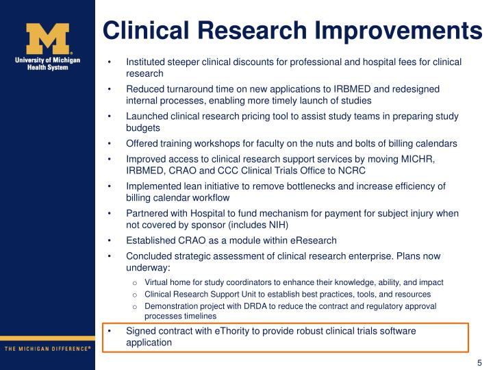 Clinical Research Improvements