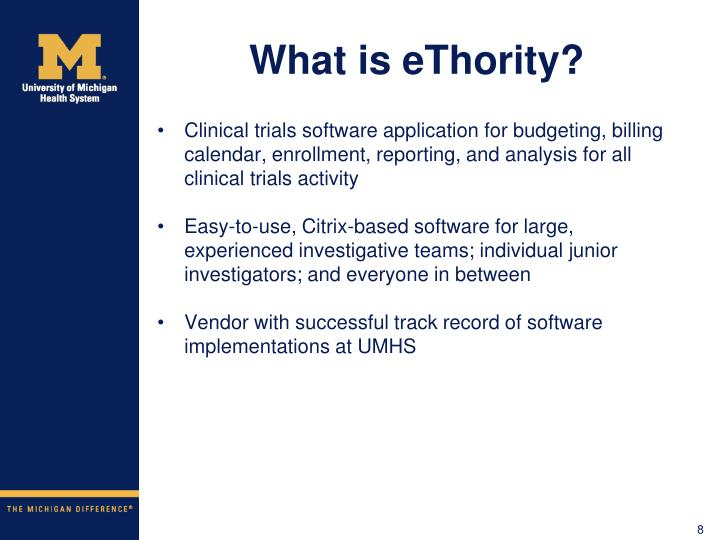 What is eThority?