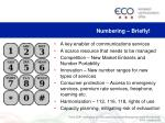 numbering briefly