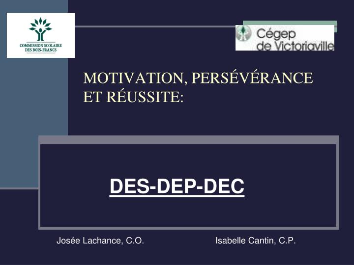 motivation pers v rance et r ussite