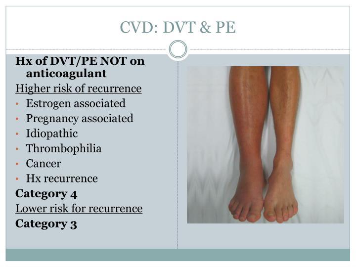 CVD: DVT & PE