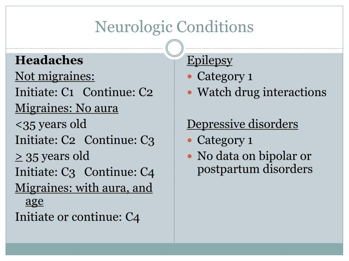Neurologic Conditions