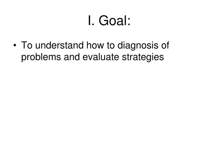 I. Goal: