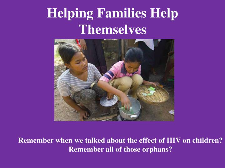 Helping Families Help Themselves