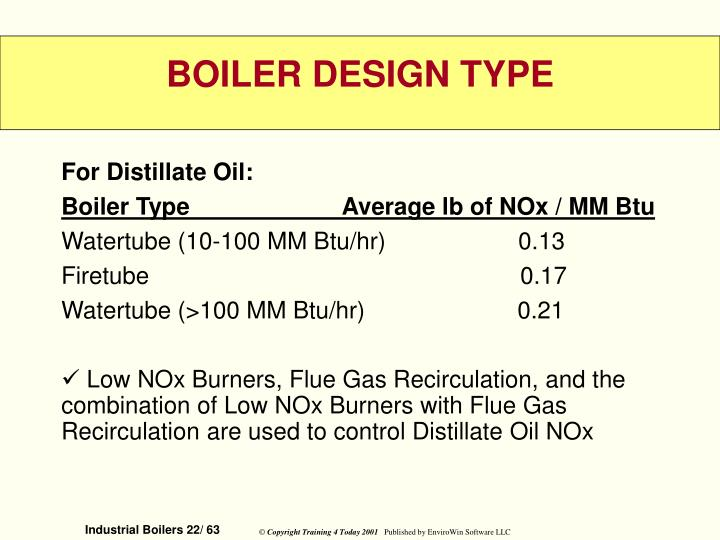 For Distillate Oil: