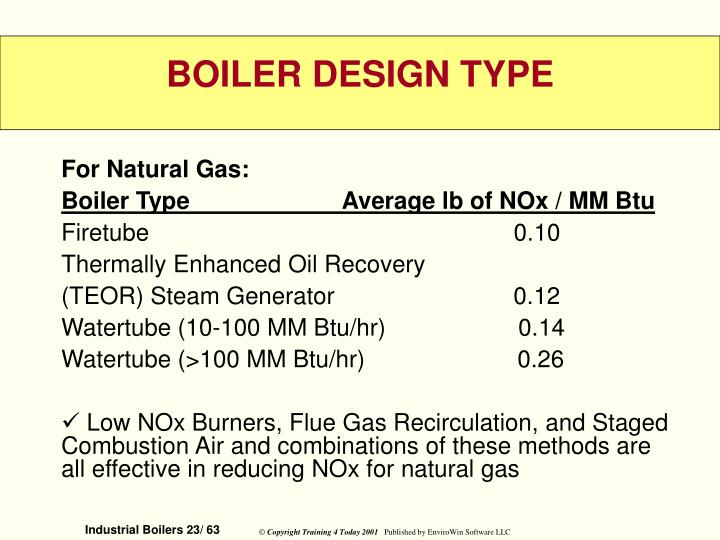 For Natural Gas: