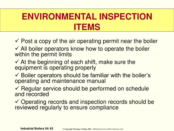 Post a copy of the air operating permit near the boiler
