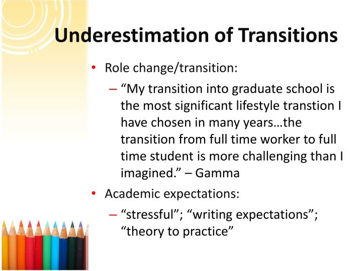Underestimation of Transitions