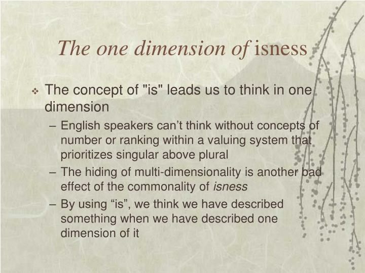 The one dimension of