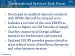 international services task force