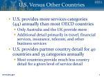 u s versus other countries