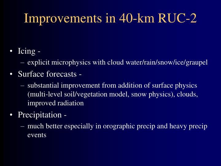 Improvements in 40-km RUC-2