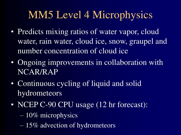MM5 Level 4 Microphysics