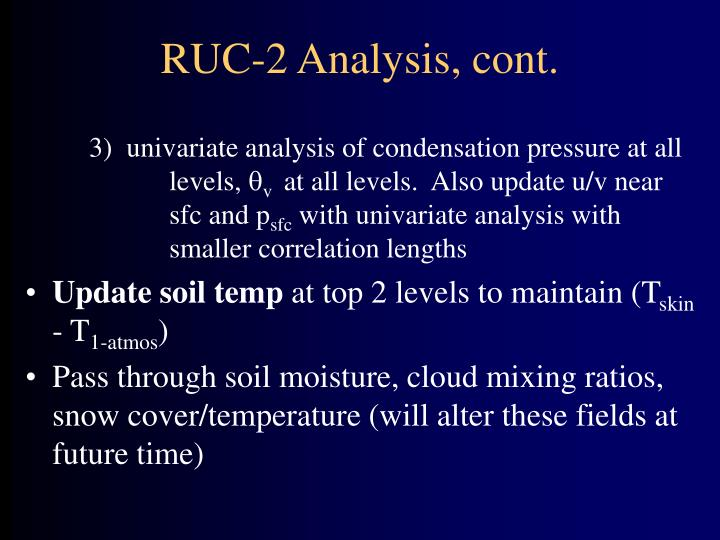 RUC-2 Analysis, cont.