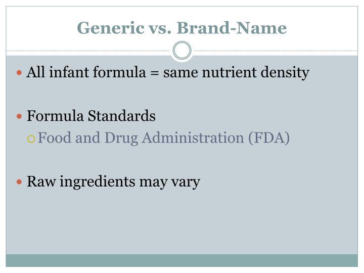 Generic vs. Brand-Name