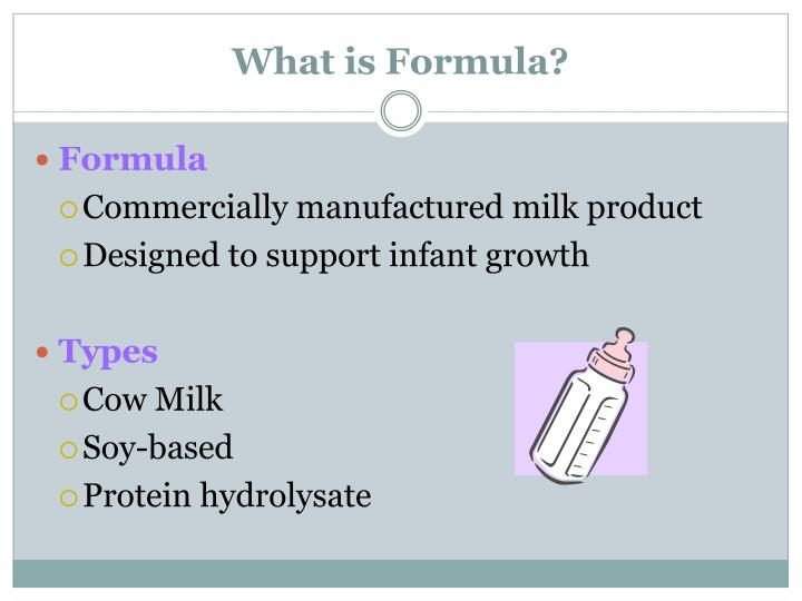 What is Formula?