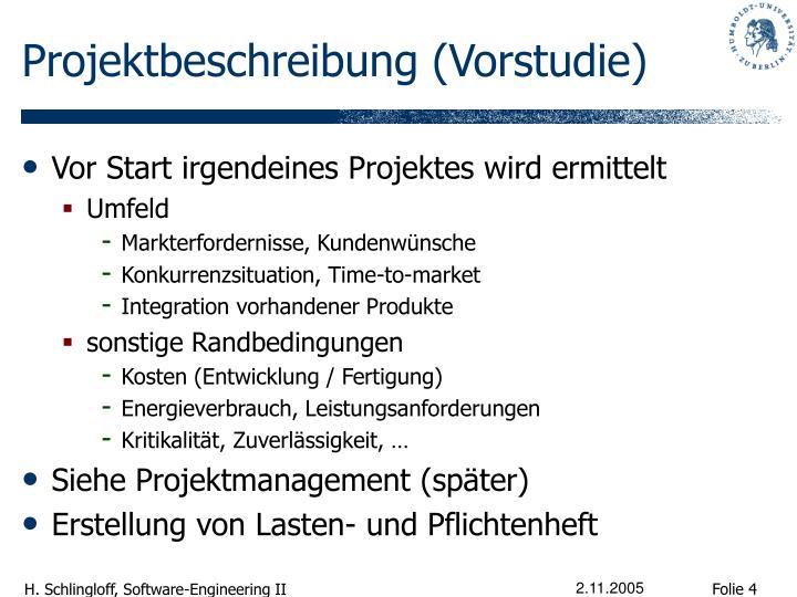 Projektbeschreibung (Vorstudie)