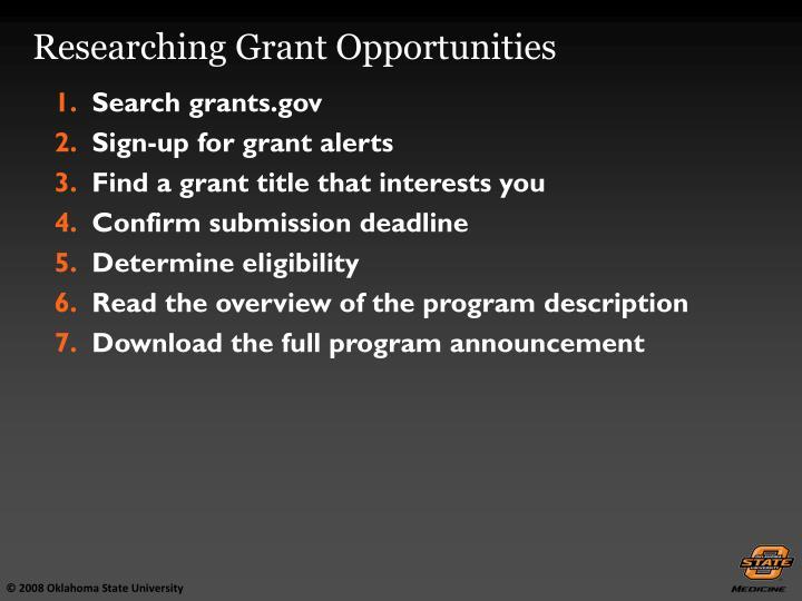Search grants.gov