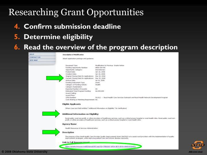 Confirm submission deadline