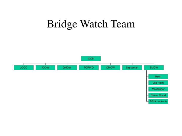 Bridge watch team