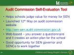 audit commission self evaluation tool