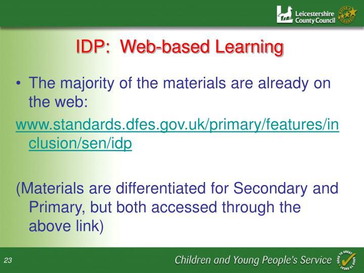 IDP:  Web-based Learning