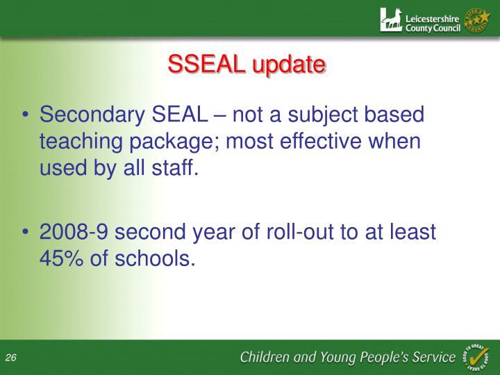 SSEAL update