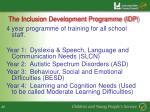 the inclusion development programme idp