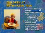 children at nutritional risk1