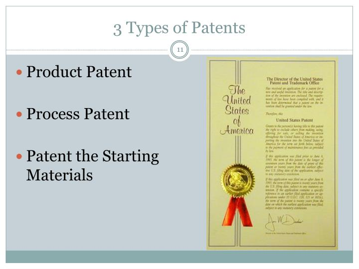 3 Types of Patents
