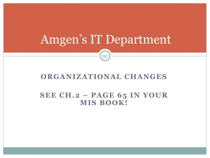 Amgen's IT Department