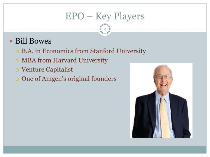EPO – Key Players