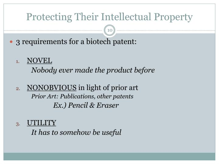 Protecting Their Intellectual Property