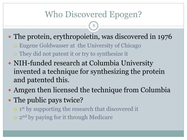 Who Discovered Epogen?