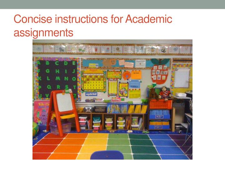 Concise instructions for Academic assignments