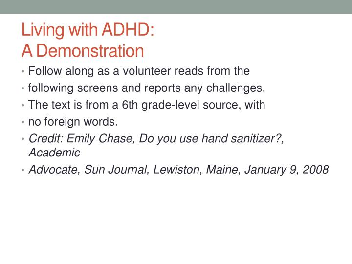 Living with ADHD: