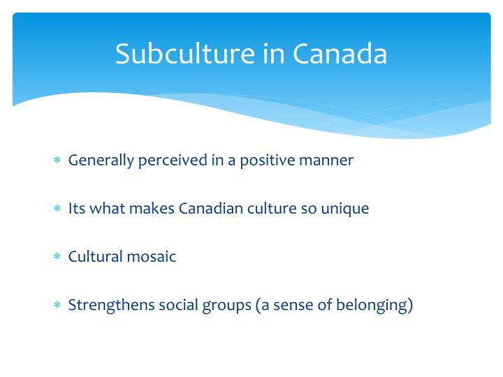 Subculture in Canada