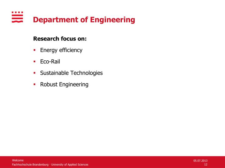 Department of Engineering