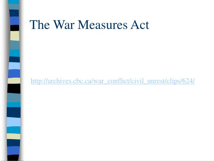 The War Measures Act