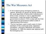 the war measures act1