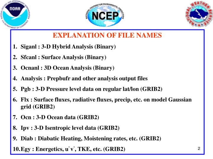 EXPLANATION OF FILE NAMES