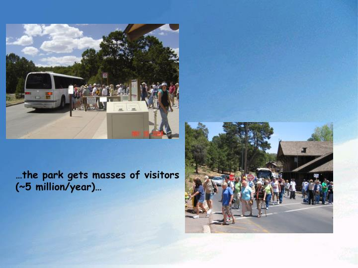 …the park gets masses of visitors