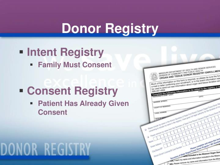 Donor Registry