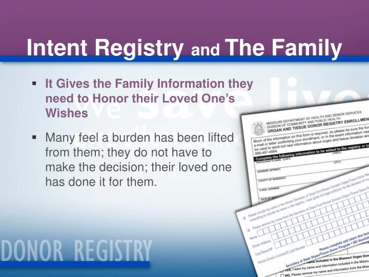 Intent Registry