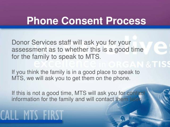 Phone Consent Process