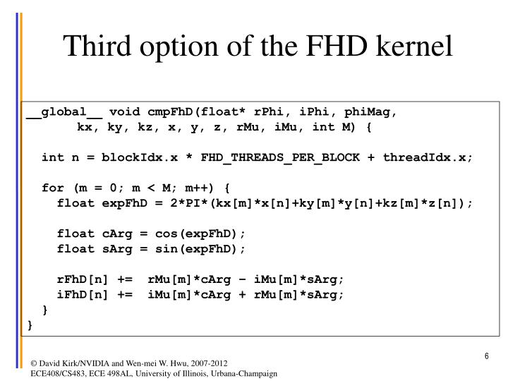 Third option of the FHD kernel