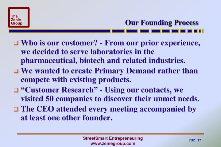 Our Founding Process